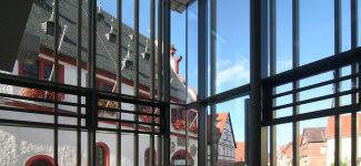 Churfrankenvinothek Bürgstadt - Blick hinaus